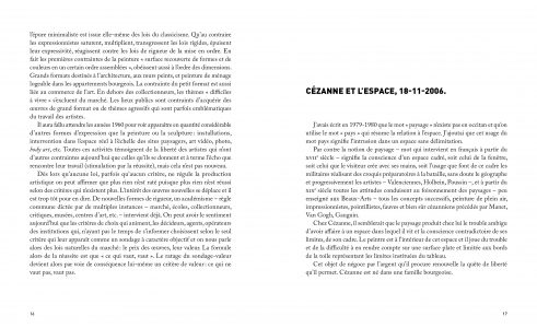Pages de l'ouvrage Cueco, l'éloge à Cézanne