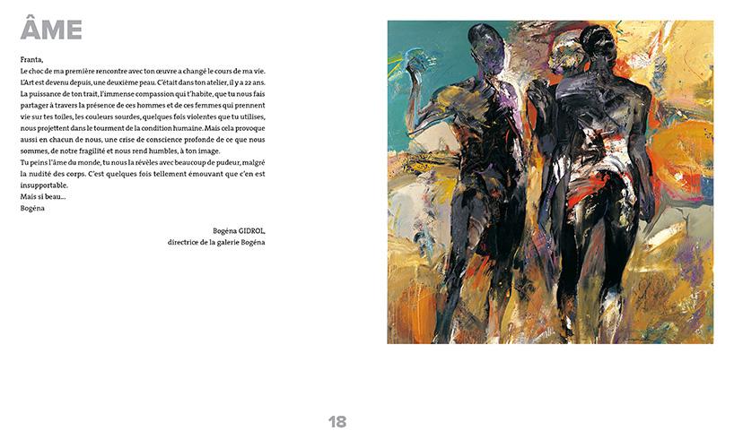 Pages de l'ouvrage Franta, le temps d'une oeuvre