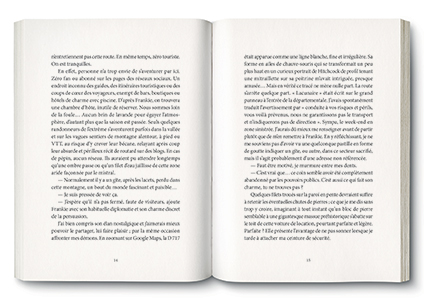 Pages de l'ouvrage la Zone des Murmures, de Natacha Nisic