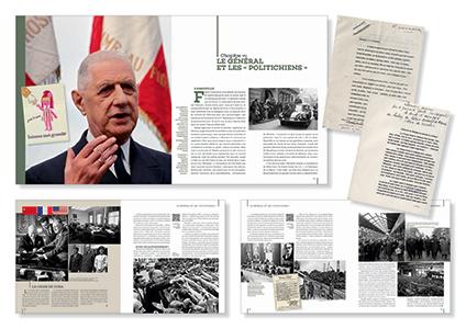 Pages de l'ouvrage De Gaulle, la Fabrique du héros