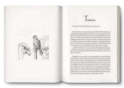 Pages intérieures de l'ouvrage l'Odyssée d'Amos