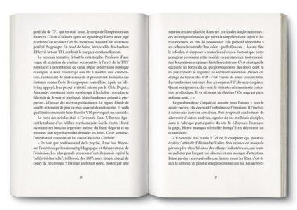 Pages intérieures de l'ouvrage la Fin des Idoles