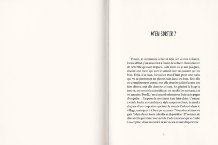 Pages intérieures de l'ouvrage La plus belle fille du quartier