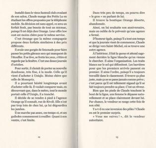 Pages intérieures de l'ouvrage Chroniques de ceux d'à côté #1 - Claude
