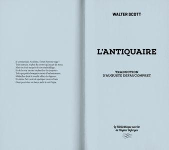 Pages intérieures de l'ouvrage L'antiquaire