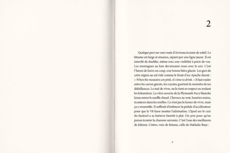 Pages intérieures de l'ouvrage Johnny, que je t'aime