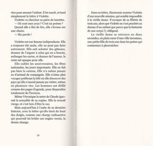 Pages intérieures de l'ouvrage Violette